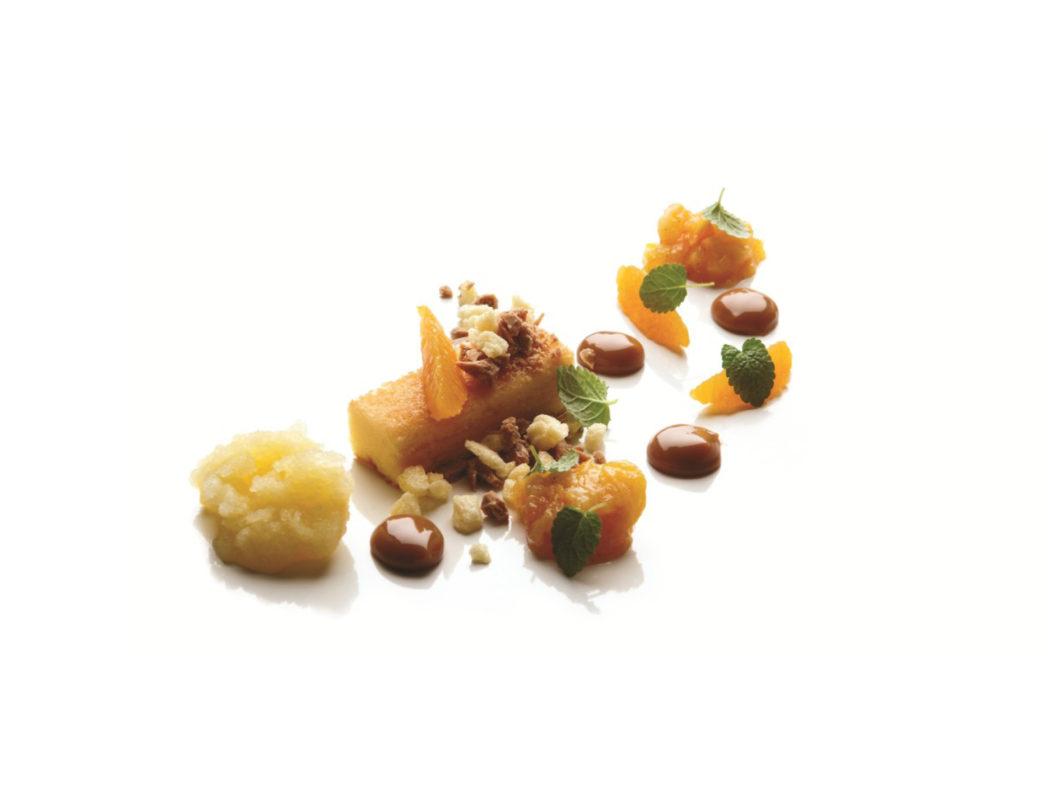 Mazarinkage med appelsin og dulce