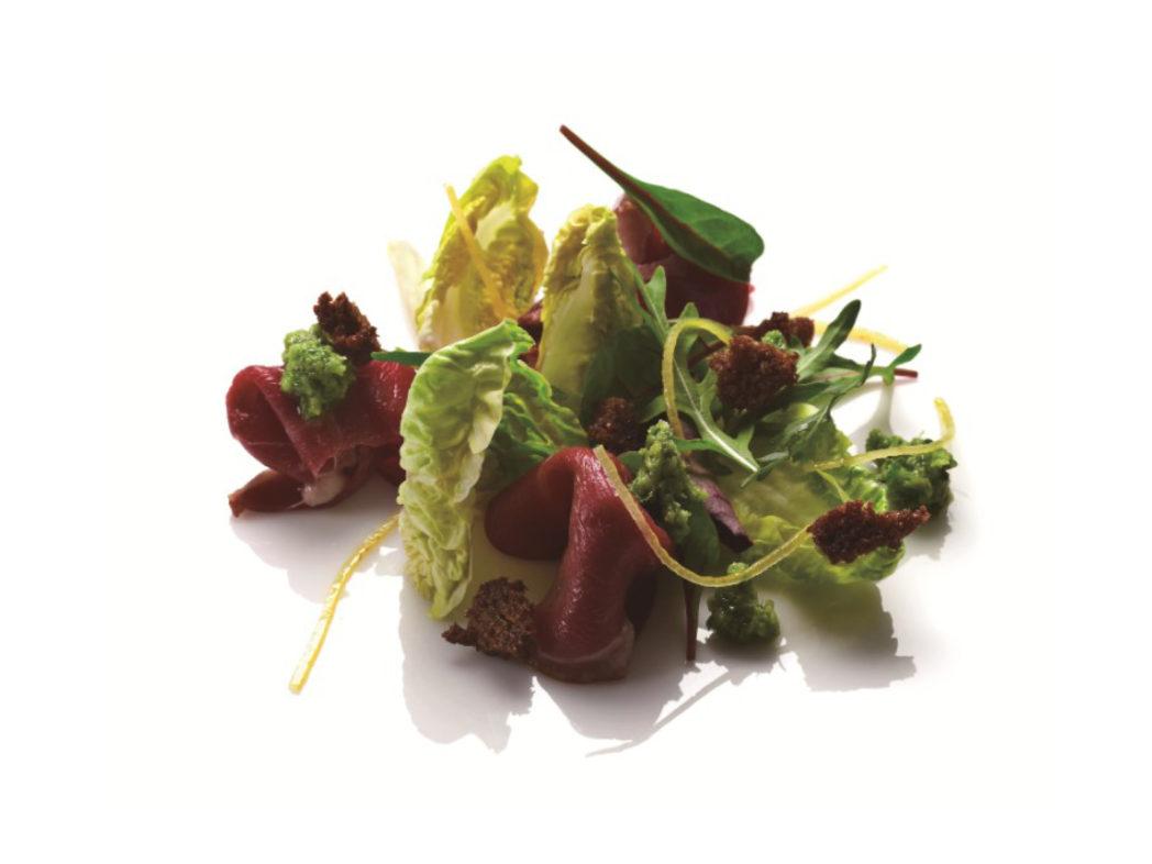 Røget andebryst med salatcreme